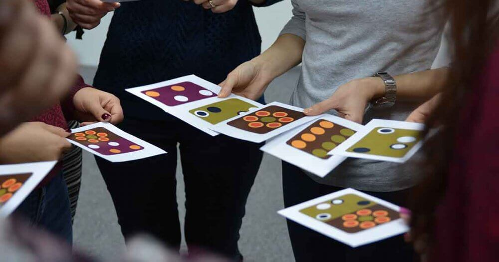 Team building emotion cards yes academy image