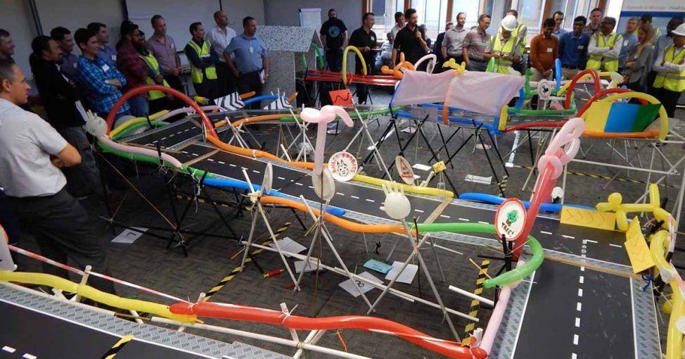 bridge imagine team building indoor cu yes academy